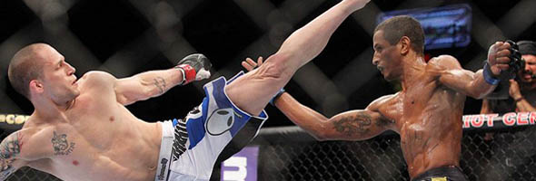 Jeff Curran throws a kick at UFC on Fuel TV 3