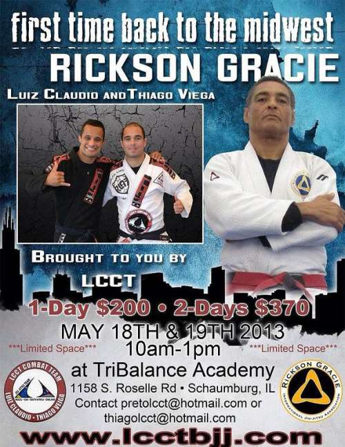 Rickson Gracie Seminar in Schaumburg - Chicago's MMA