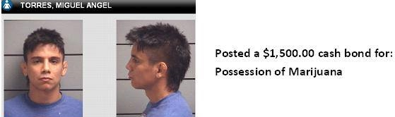 Miguel Torres booking photo