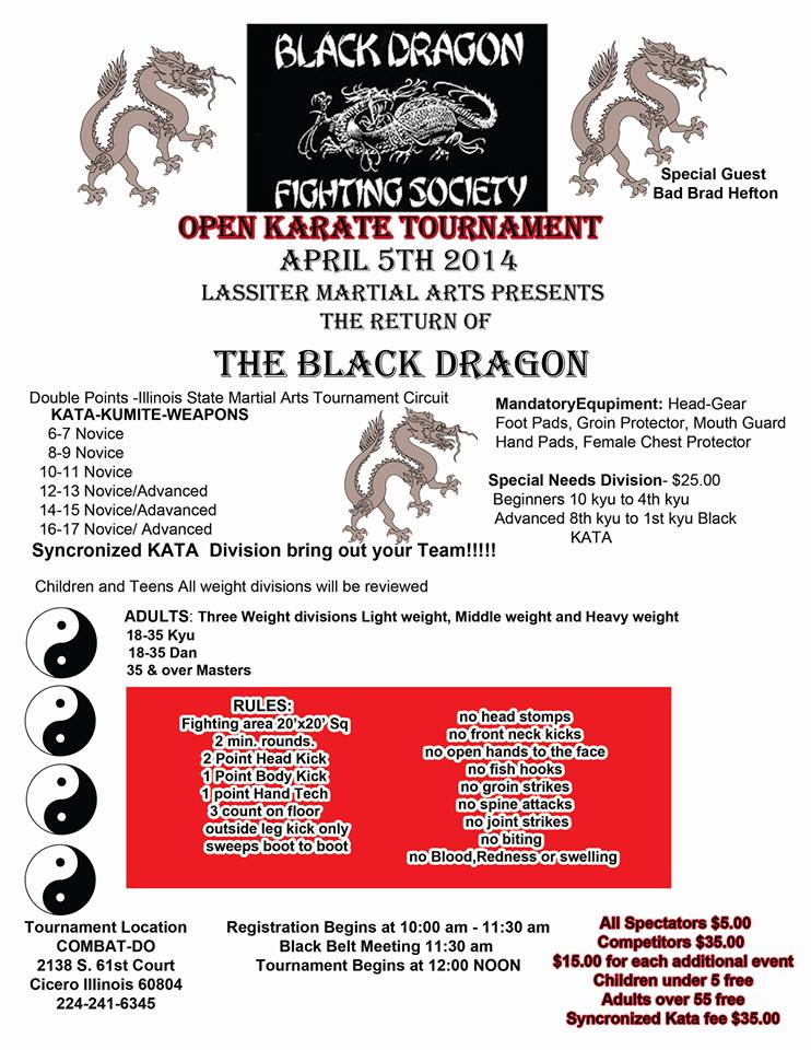 Black Dragon Karate Tournament at Combat-Do